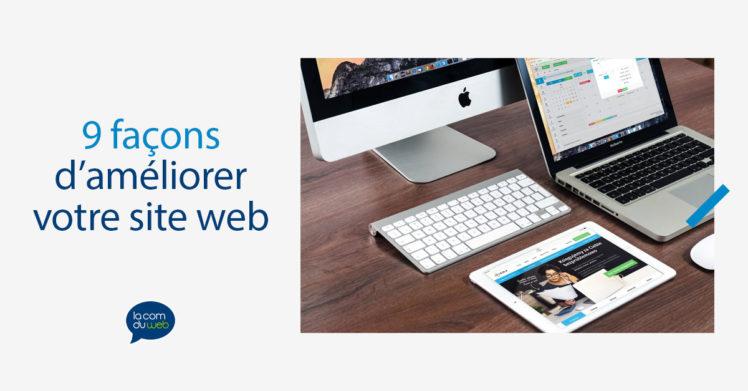 9 façons d'améliorer votre site web