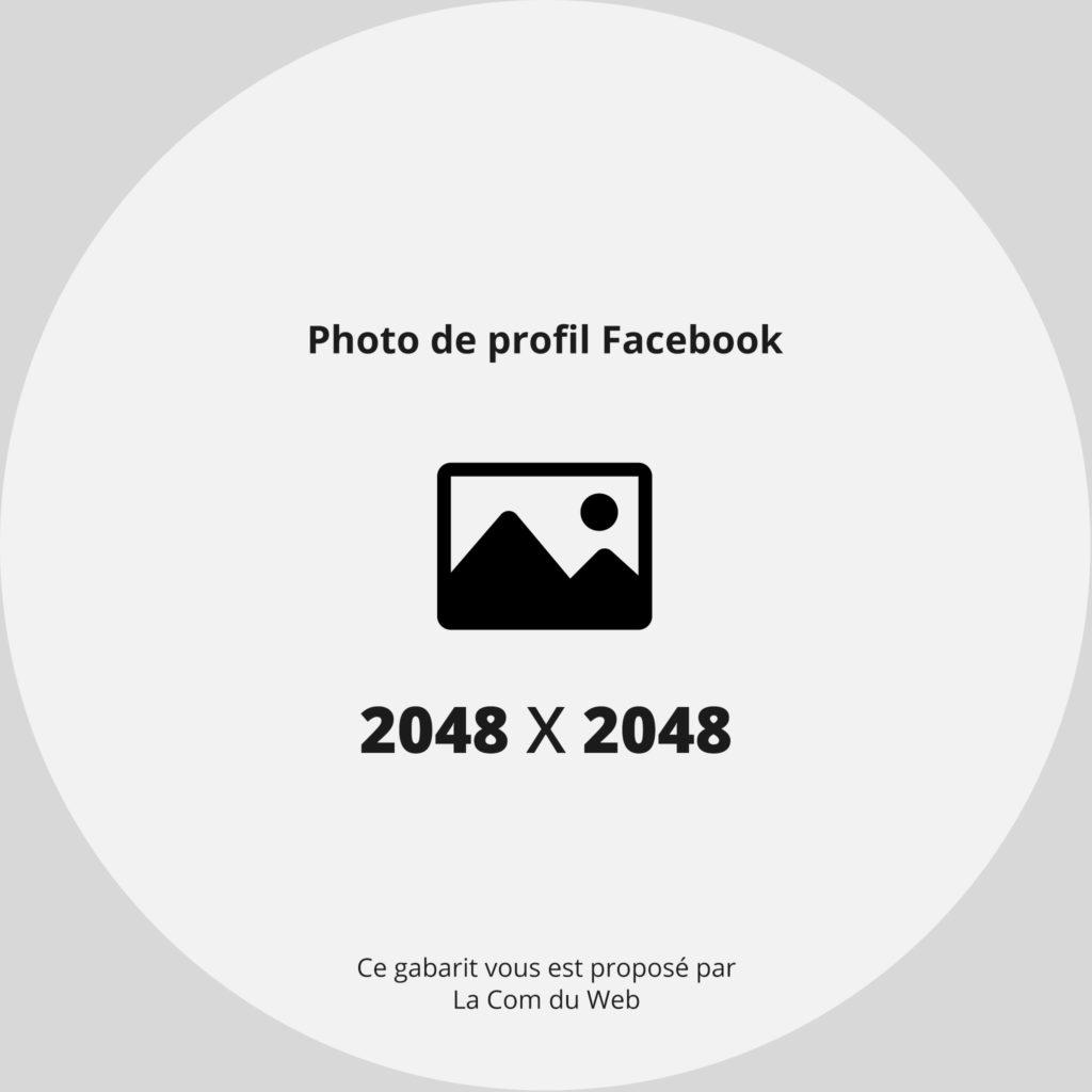 Gabarit - template de photo de profil facebook