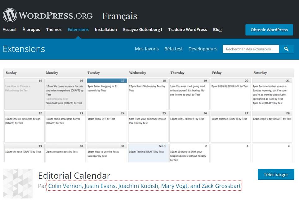 Editorial Calendar, un plugin WordPress
