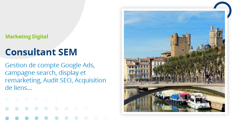 Narbonne - consultant SEM freelance