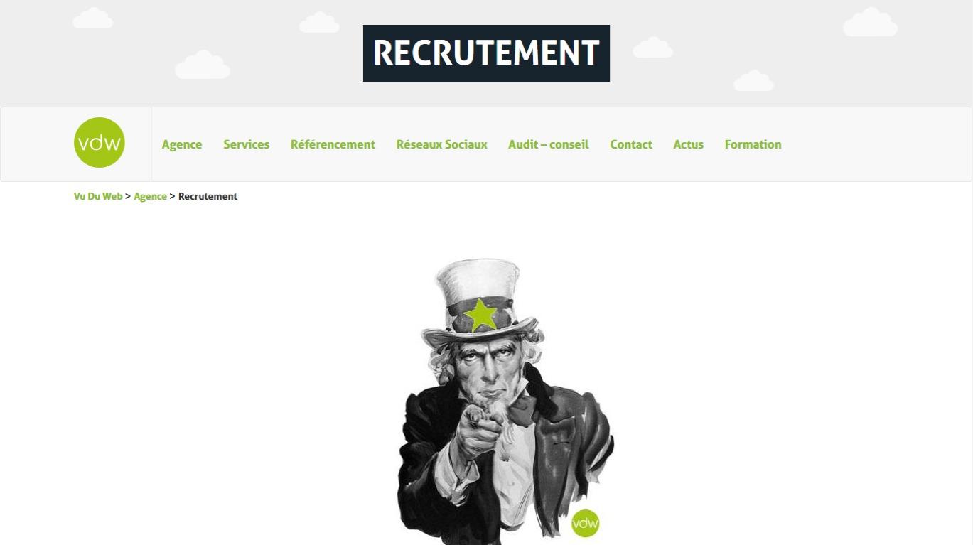 Recrutement Vu du Web